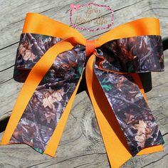 Camo Cheer Bow by LivinTheBowLife on Etsy