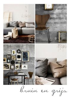 Grey and camel is a classic interior colour combination - and it's easy to see why. This setting is sophisticated and calming. Classic Interior, Gray Interior, Interior Styling, Interior And Exterior, Interior Decorating, Living Spaces, Living Room, Diy Décoration, Home Fashion