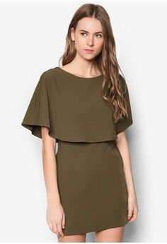 Collection Cape Dress from ZALORA in 綠色_1