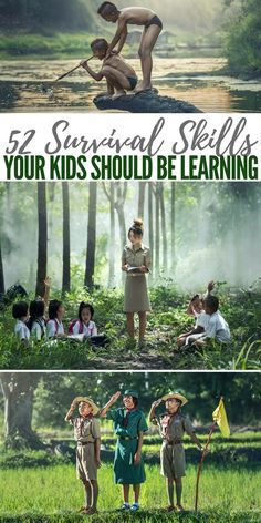 52 Survival Skills your Kids Should be Learning - Our little angels are the prospectors of the future. Its hard to look at them as they crawl or run or discover and consider the hardships they will one day face. Survival Life Hacks, Survival Food, Homestead Survival, Wilderness Survival, Camping Survival, Outdoor Survival, Survival Knife, Survival Prepping, Survival Quotes