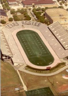 What a change in Kyle field we are about to see! Texas A & M's Kyle Field (circa 1970's)