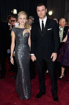 Liev Schreiber & Naomi Watts Oscars 2013.