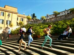 The Spanish steps of Rome beautiful to the eye and a great cardio workout.