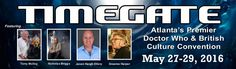 MAY 27-29 - TimeGate Convention | Atlanta's Premier Doctor Who & British Media Convention @ Atlanta Marriott Century Center