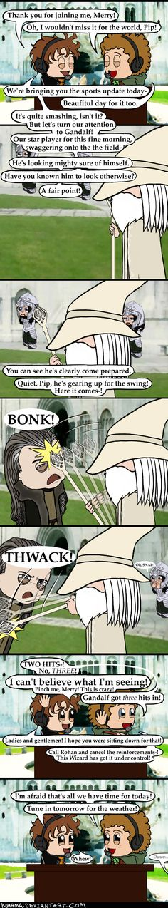 LOTR: News of MT pt. 3 by Kumama. xDDD<<<I CAN'T HANDLE HOW AWESOME THIS IS.<<<Repin if you read it in their voices.