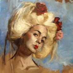 "Teresa Oaxaca, American: Oil Sketch - Alla Prima (done in one sitting), 18""x20"", Oil on canvas. Sold."