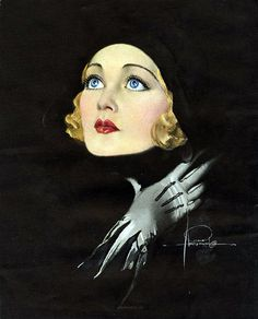 Constance Bennett - by Rolf Armstrong - Beautiful, doesn't look like her so much, but a wonderful example of the illustration style of the era. Rolf Armstrong, Pinup Art, Moda Vintage, Vintage Art, Vintage Beauty, Vintage Fashion, Nose Art, Art Prints For Sale, Fine Art Prints