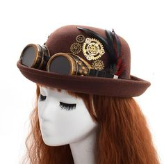 Help us celebrate our opening with $12 off this unisex steampunk hat!