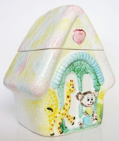 vintage cookie jars collectibles | Vintage Collectible Cookie Jar Japan House of Bear by hootandeye