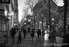 Twilight. Market Street, San Francisco. Jon Wollenhaupt Photography. Copyright Protected. All rights reserved.