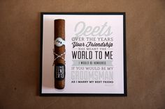 Pretty awesome way to ask people to be part of our wedding party! -- Bridal Party Invite by Kristy Griffiths, via Behance