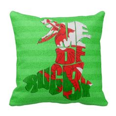 Customizable Name & Number Wales Home of #Rugby Pillow.  Get 30% off pillows. Valid until 4/2/15. Enter code: SPRINGPILLOW at checkout. For many more throw pillows, check out the 'Home & Pets' department in my store: http://www.zazzle.com/gamefacegear*/