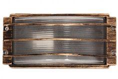 Απλίκα εξωτερικού χώρου αλουμινίου 26Χ13Χ11 εκ. χρ. μπρονζέ