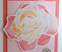 Floating Watercolour Rose