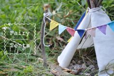 I think this is technically a craft for kids but I want to put like ten of them in my yard. Fairy Tent Tutorial by Imagine Childhood