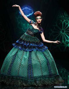Mixed Greens. #NMFallTrends  jung hwa yoo  korean knit Designer & Knit Artist