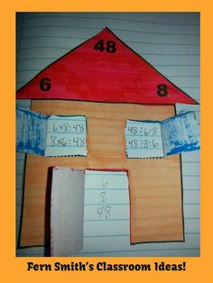 Multiplication and Division Fact Families Center Game and Interactive Notebook and a freebie! Activity #teacher #Math www.FernSmithsClassroomIdeas.com