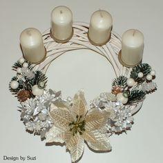 Design by Suzi Advent Wreath, Wreaths, Christmas, Design, Fashion Blouses, Noel, Xmas, Door Wreaths, Navidad
