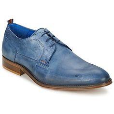 TENMER Blau (Preis - 63,99 €) : Entdecken Sie diese schicken #Derbies von der Marke Carlington, ein Must-Have für den Alltag für aktive Herren. Elegante Linien und Material aus Leder.