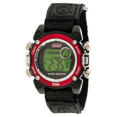 Kid's Coleman Digital Sportwrap Watch - Black/Red, Boy's
