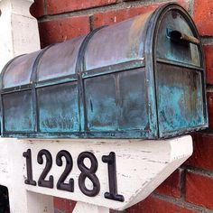 Cottage Mail Post & Copper Mailbox by HerMadeUpWorld on Etsy