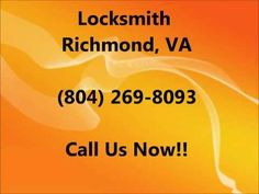 Locksmith Richmond VA (804) 269-8093. If you are in need of a locksmith in Richmond VA give us a call. We have technicians available for you anytime 24 hours a day, 7 days per week. More information on the art of locksmithing can be found below:    Locksmithing has also been known to be referred to as security engineering. It is basically the art ...