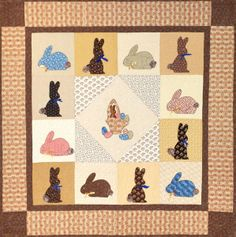 Mary's Chocolate Bunnies Quilt Pattern by Dolores Joshua at KayeWood.com