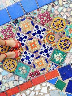 carreaux de céramique Interior Design carrelage mexicain motif