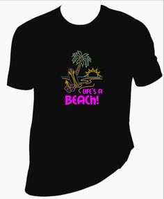 Life's a Beach rhinestone and vinyl TShirt. Your choice of Men's or Women's type TShirt. - pinned by pin4etsy.com