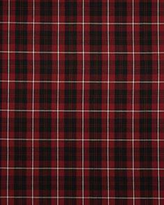 Cotton Fabric   Red & Black Plaid   Truro Fabrics
