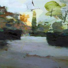 "Artist: Carlos San Millan; Oil 2015 Painting ""English garden #25"""