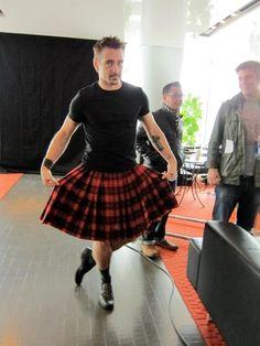 Colin Farrell in a Bohemian Society Kilt