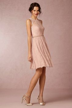 Hitherto rose quartz Celia Dress   BHLDN