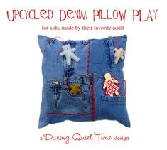 michele made me: Drop-Dead Denim Guest: Amy from During Quiet Time- play pillow time- DIY tutorial