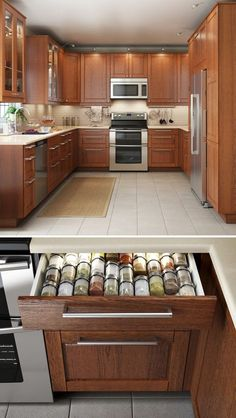 Spice drawer/not color scheme A kitchen that looks great & functions even better makes cooking that much more enjoyable! IKEA SEKTION kitchen interior organizers help to keep even the smallest items, like utensils and spices, neat and organized. Home Kitchens, Kitchen Remodel, Kitchen Design, Sweet Home, Kitchen Decor, New Kitchen, Kitchen, Kitchen Interior, Home Decor