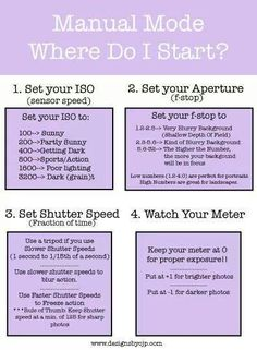 Photography tips setting proper ISO, aperture, meter, etc.