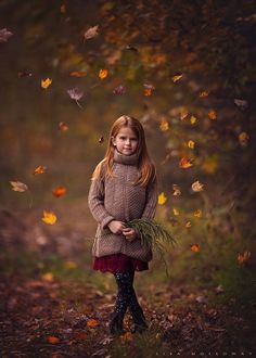Autumnal Serenade - Children Photography by Lisa Holloway