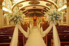 Fall Church Wedding | Above >> various chic church fall wedding decorations.