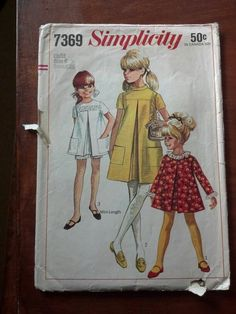 Simplicity 7369 - vintage girl's dress