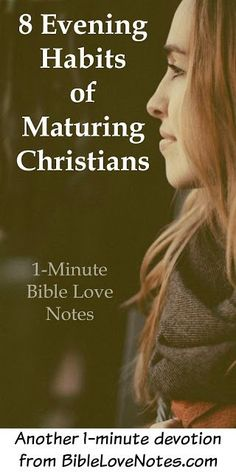 Highly successful people have certain habits before retiring. What if Christians applied some of these principles to our spiritual growth?? This 1-minute devotion encourages us to do that.