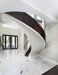 #WindowsMilwaukeeReplacement Arched Stairs Staircase Ideas, Curved Staircase,  Grand Staircase, Modern Staircase,