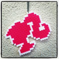 Barbie necklace perler beads by funk_a_delic_096