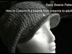 ▶ Eyelet Beanie - Includes Brim Tutorial Part 2 of 2 - YouTube