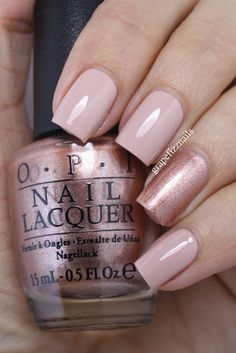 OPI Tiramisu for Two Accent Nail