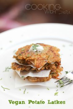 Looking for Fast & Easy Asian Recipes, Vegan Recipes! Recipechart has over free recipes for you to browse. Find more recipes like Vegan Potato Latkes (Potato Pancakes) . Vegan Pancake Recipes, Delicious Vegan Recipes, Vegan Foods, Vegan Dishes, Vegetarian Recipes, Potato Latkes, Potato Pancakes, Vegan Pancakes, Potato Flour