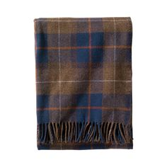 Wrap yourself in the cozy warmth of a Pendleton blanket. This fringed lambswool throw is made with 100% pure virgin wool and comes with a convenient leather carrier with a shoulder strap and handle. Th...  Find the Caleb Throw by Pendleton, as seen in the Vintage Aquatic Exploration Collection at http://dotandbo.com/collections/vintage-aquatic-exploration?utm_source=pinterest&utm_medium=organic&db_sku=120789