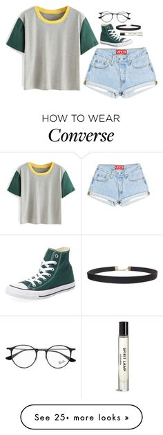 """star gazing"" by lifeisnotwonderland on Polyvore featuring Converse, Ray-Ban and Humble Chic"