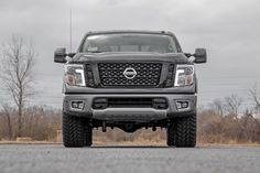 Rough Country's Bolt-On Kit offers easy installation and aggressive good looks at an incredible value. Take your truck to new heights with this excellent option for standard Nissan Titan pickups.This kit features a set of high-quality, tubular Upper C Nissan Titan Lifted, Nissan Titan Xd Diesel, 2017 Nissan Titan, Nissan Trucks, Truck Mods, Brand Icon, Nissan Xterra, Nissan Infiniti, Alfa Romeo Cars