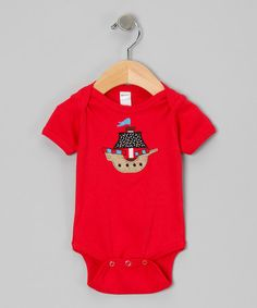 Take a look at this Red Pirate Ship Bodysuit - Infant by Petunia Petals on #zulily today!
