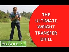 THE ULTIMATE WEIGHT TRANSFER DRILL FOR GOLF